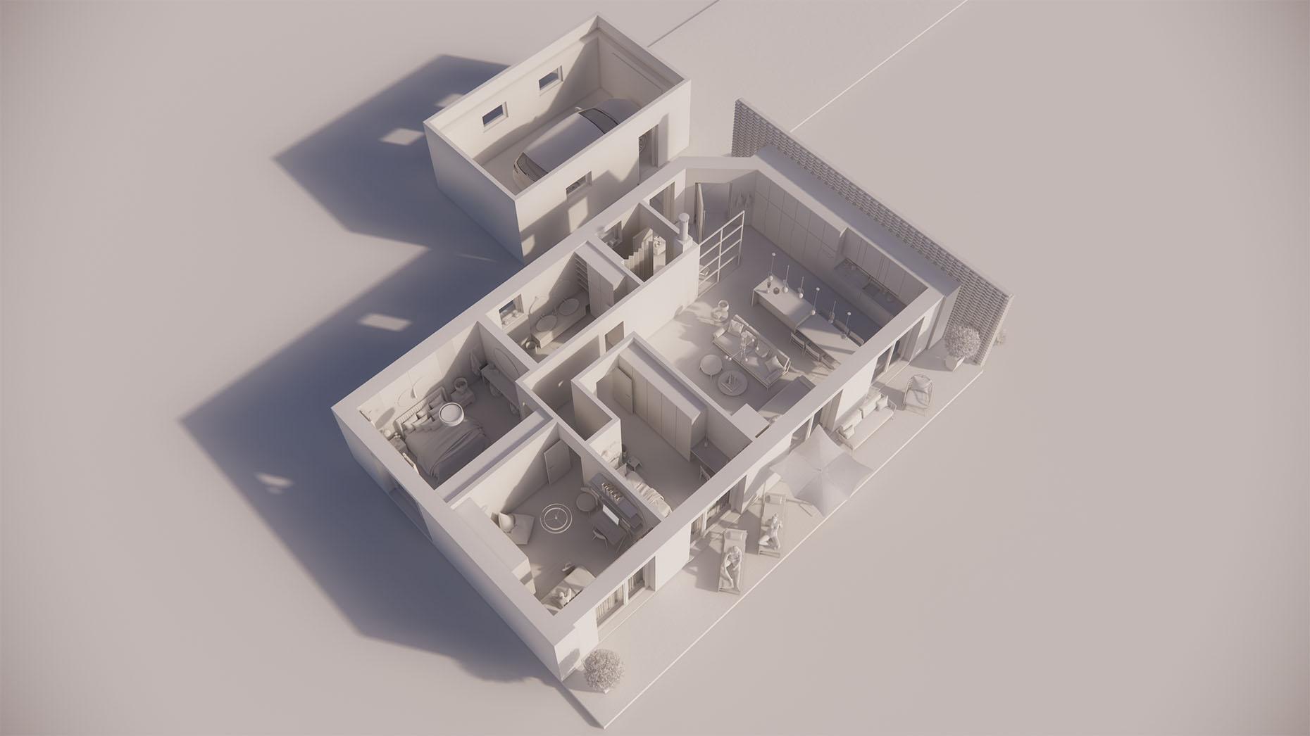 Katalógový dom P13G - Prízemné podlažie