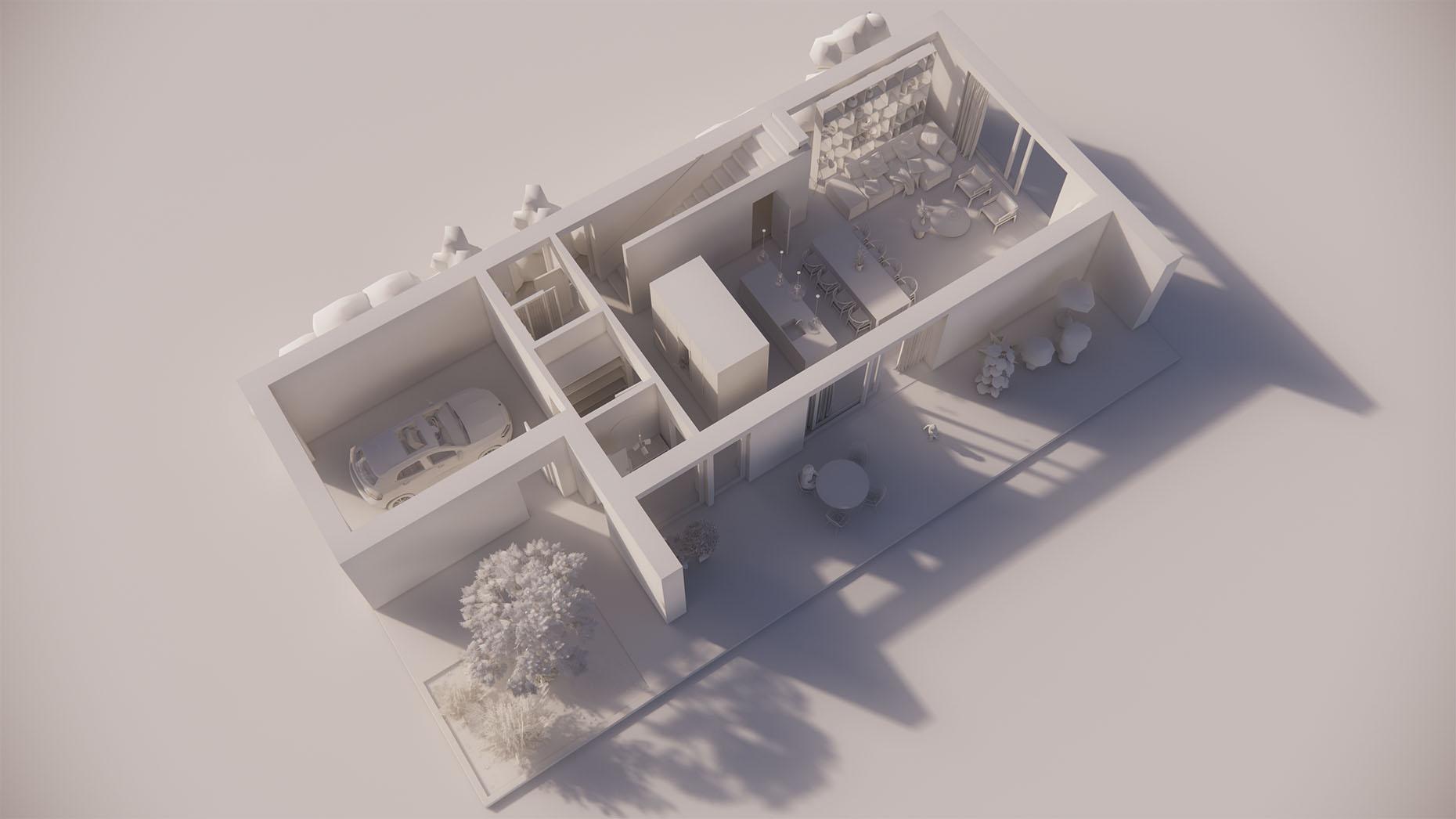 Katalógový dom P22 - Prízemné podlažie