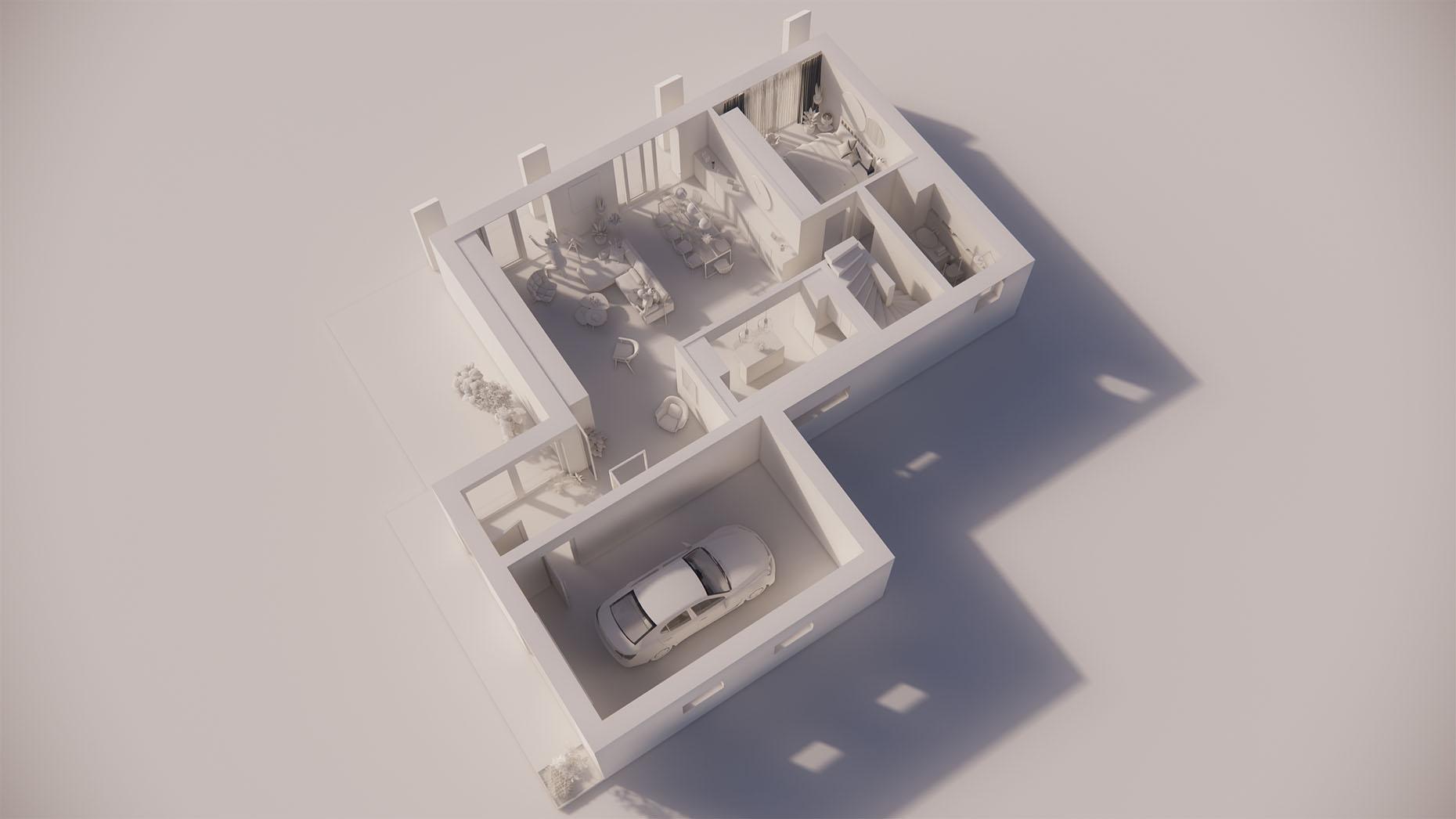 Katalógový dom K24G - Prízemné podlažie