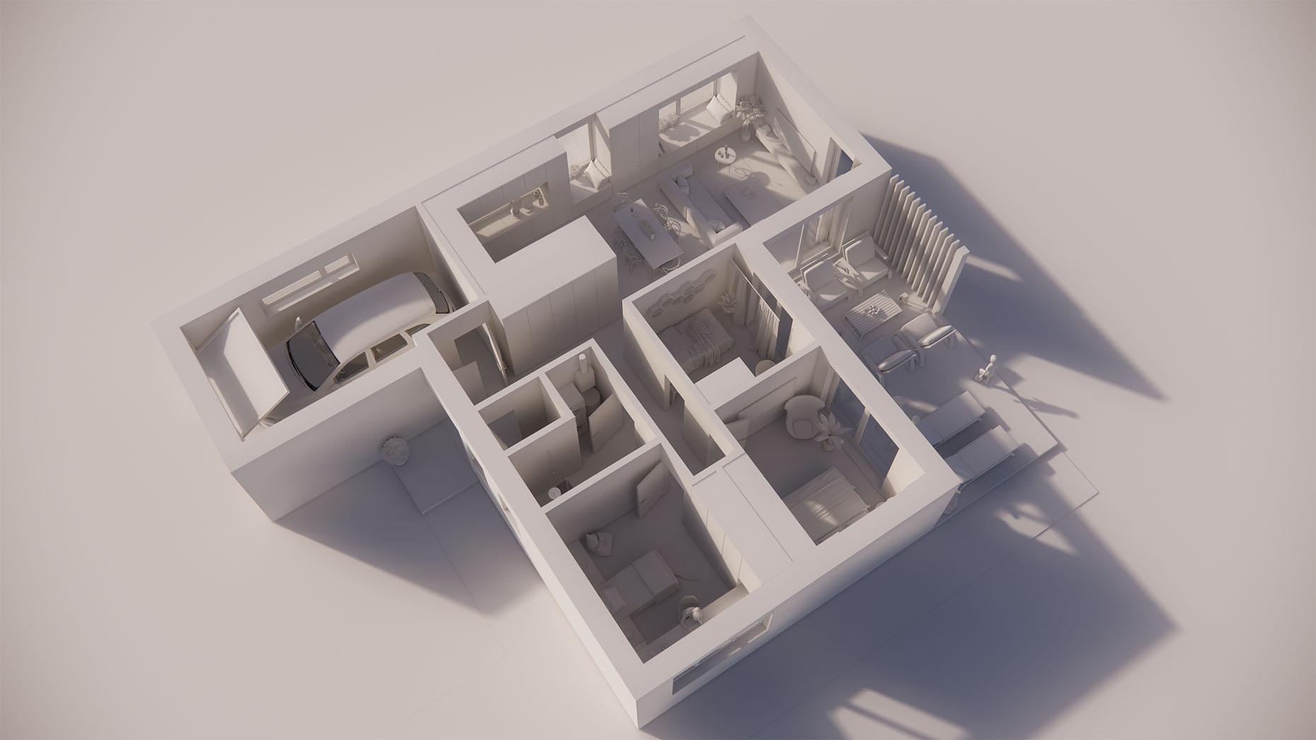 Katalógový dom V13G - Prízemné podlažie