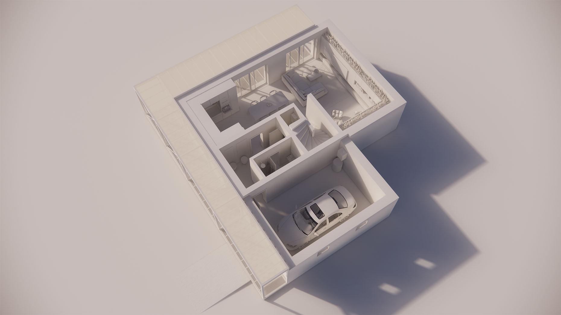 Katalógový dom P23G - Prízemné podlažie