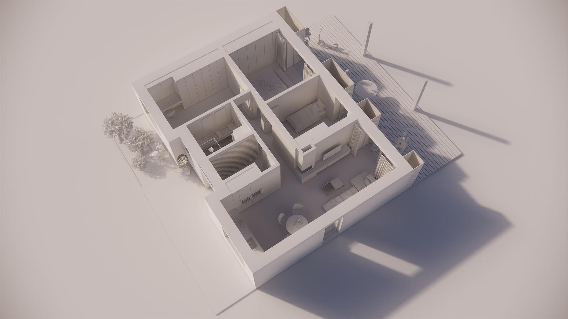 Katalógový dom V12 - Prízmené podlažie