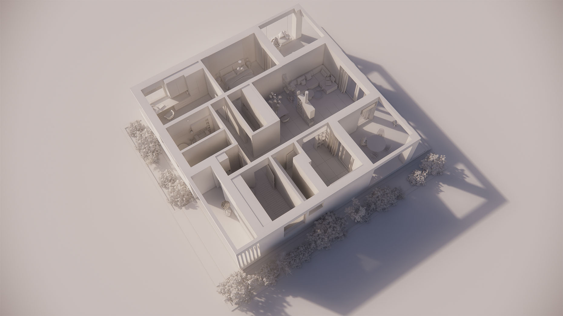 Katalógový dom V18 - Prízemné podlažie