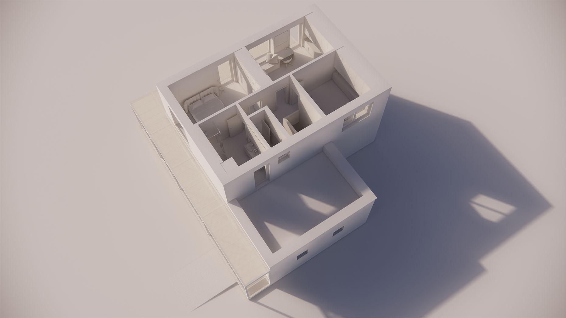 Katalógový dom P23G - Nadzemné podlažie