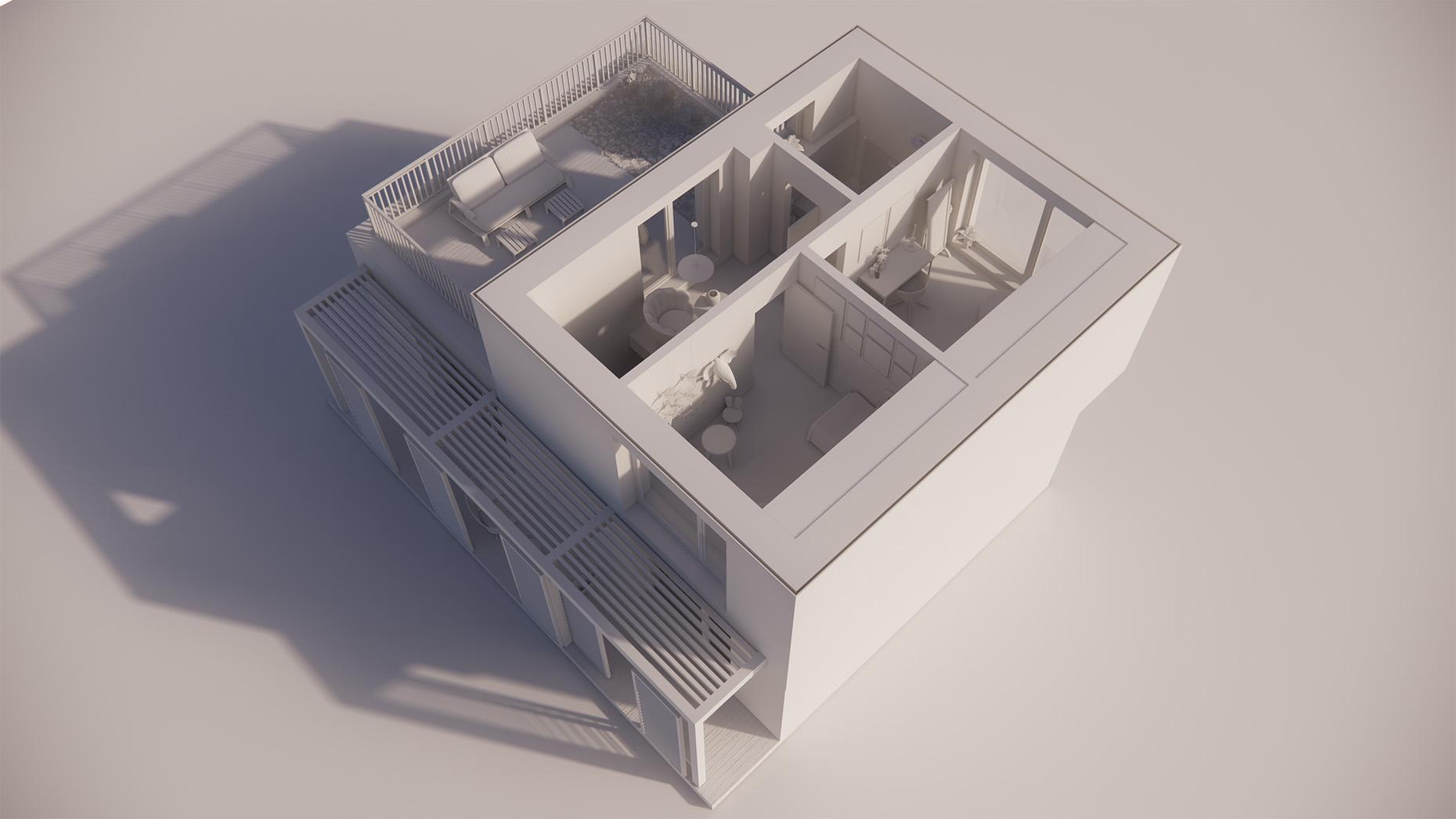 Katalógový dom P21 - Nadzemné podlažie